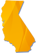 Graphic of a yellow California image.